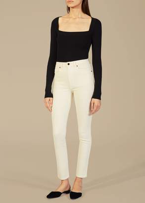 KHAITE The Vanessa Jean in Ivory