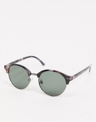 Topshop round sunglasses in tortoiseshell