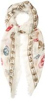 Alexander McQueen Skull-print silk-blend scarf