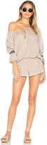 One Teaspoon The Rose Hill Muslin Romper in Beige. - size M (also in S)