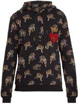 Dolce & Gabbana Hooded leopard-print cotton sweatshirt