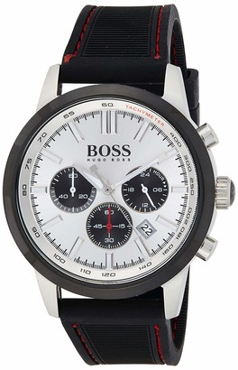 HUGO BOSS Men's Chronograph Quartz Watch with Rubber Strap 1513185