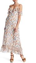 Max Studio Floral Strappy Maxi Dress