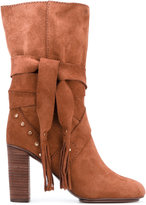 See by Chloe studded tie boots - women - Leather/Suede/rubber - 36