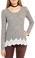 Jolt Rib Knit Crochet Hem Top
