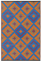 Saman Orange and Blue Rug