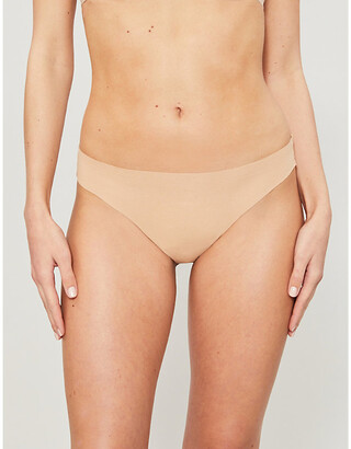 Hanro Invisible Cotton low-rise cotton-jersey thong