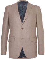 Etro Brown Slim-fit Wool-blend Blazer - Light brown