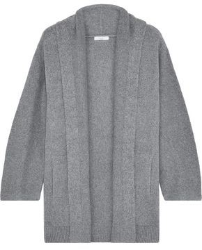 Vince Melange Brushed Cotton-blend Cardigan