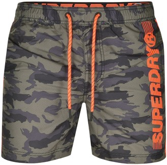Superdry State Volley Swim Shorts Khaki