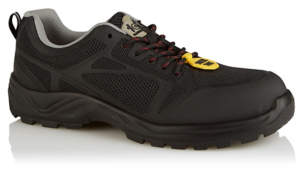 George Black Mesh Steel Toe Cap Safety Trainers