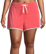 Flirtitude Terry Cloth Pull-On Shorts-Juniors Plus