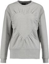 Love Moschino Gathered Stretch-Cotton Jersey Sweatshirt
