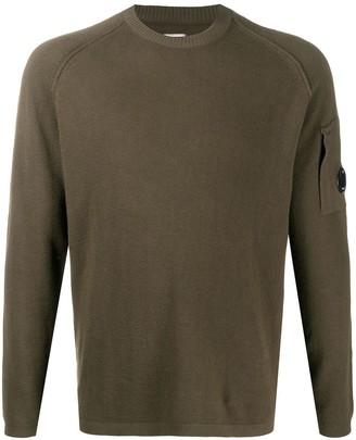 C.P. Company Fine Knit Logo Patch Detail Jumper