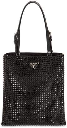 Prada Crystal & Satin Top Handle Bag