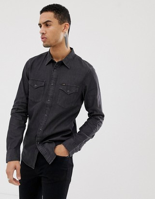 Lee Jeans Western denim shirt-Black