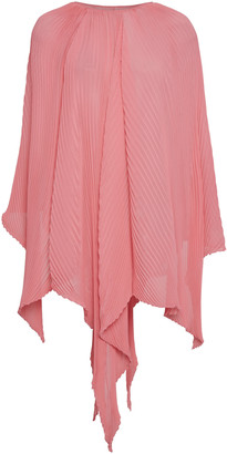 J.W.Anderson Tie-Detailed Pleated Chiffon Cape