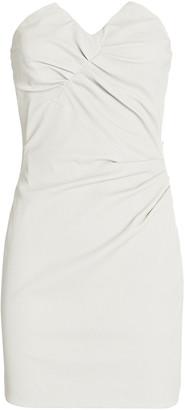 IRO Valana Leather Strapless Mini Dress