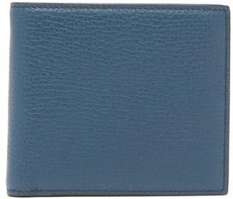Smythson Grained Leather Bifold Wallet - Mens - Blue