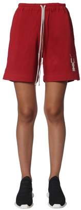 Rick Owens Logo Drawstring Shorts