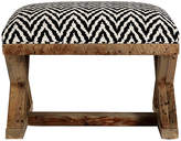 Brownstone Upholstery Cass X-Base Ottoman - Black/White Chevron