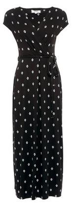 Dorothy Perkins Womens Dp Petite Black Geometric Print Wrap Maxi Dress, Black
