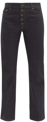 Joseph Den Cotton Blend Straight Leg Jeans - Womens - Dark Blue