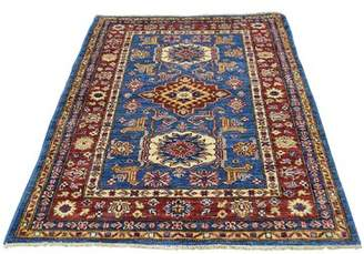 "Blue Area Millwood Pines Tilomar Hand-Knotted Denim Rug Millwood Pines Rug Size: Rectangle 3'3"" x 4'10"""