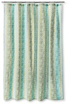 Threshold Shower Curtain - Vertical Print Green
