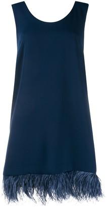 P.A.R.O.S.H. feather trim shift dress