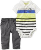 Carter's 2-Pc. Striped Polo Bodysuit & Pants Set, Baby Boys (0-24 months)