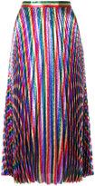 Gucci Iridescent pleated midi skirt - women - Silk/Polyester - 40