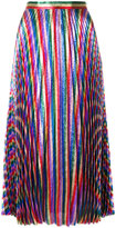 Gucci Iridescent pleated midi skirt
