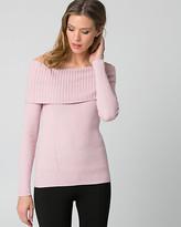 Le Château Rib Cotton Blend Foldover Sweater
