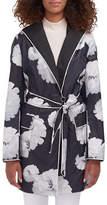 Novelti Belted Packable Floral-Printed Trench Coat