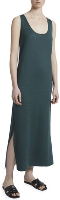 Maison Ullens Reversible Cashmere-Silk Sleeveless Midi Dress