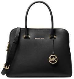 MICHAEL Michael Kors Medium Maddie Leather Dual-Zip Satchel