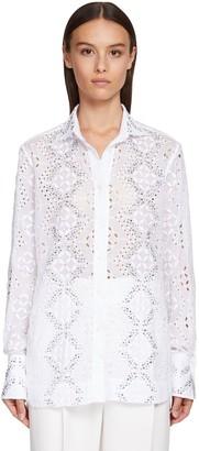 Ermanno Scervino Embellished Eyelet Lace Shirt