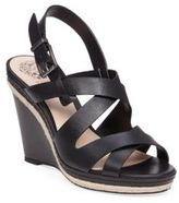 Vince Camuto Maben Leather Platform Wedge Sandals