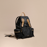 Burberry The Medium Rucksack in Two-tone Nylon and Leather