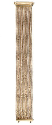 Carolina Bucci 18kt Rose, White And Yellow Gold Beaded Woven Bracelet