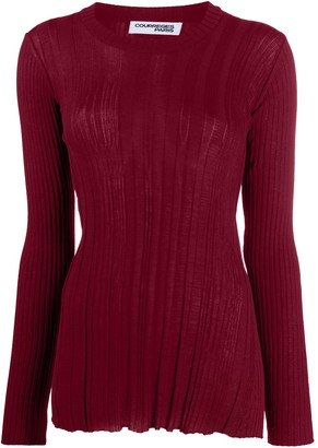 Courreges Ribbed Knit Crewneck Jumper