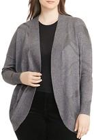 Lauren Ralph Lauren Plus Geometric Open-Front Cardigan