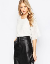 Just Female White Laura Blouse