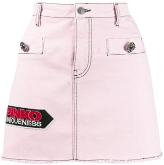 Pinko Denim Mini Skirt