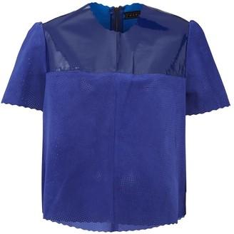 Manley Belle Patent Leather T-Shirt - Cobalt