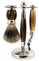 Smallflower Pure Badger Faux Horn 3pc Shaving Set by Vulfix