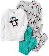 Carter's Girls 4-14 4-pc. Penguin Tops & Bottoms Pajama Set