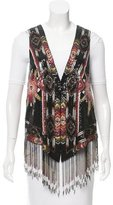 Haute Hippie Silk Sequined Vest w/ Tags
