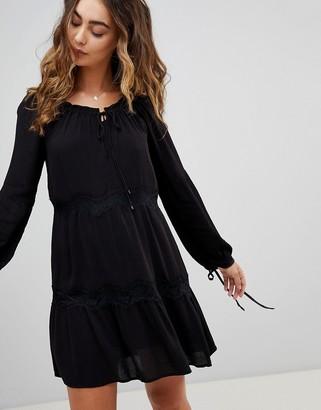 Pepe Jeans Ander Tie Sleeve Dress-Black